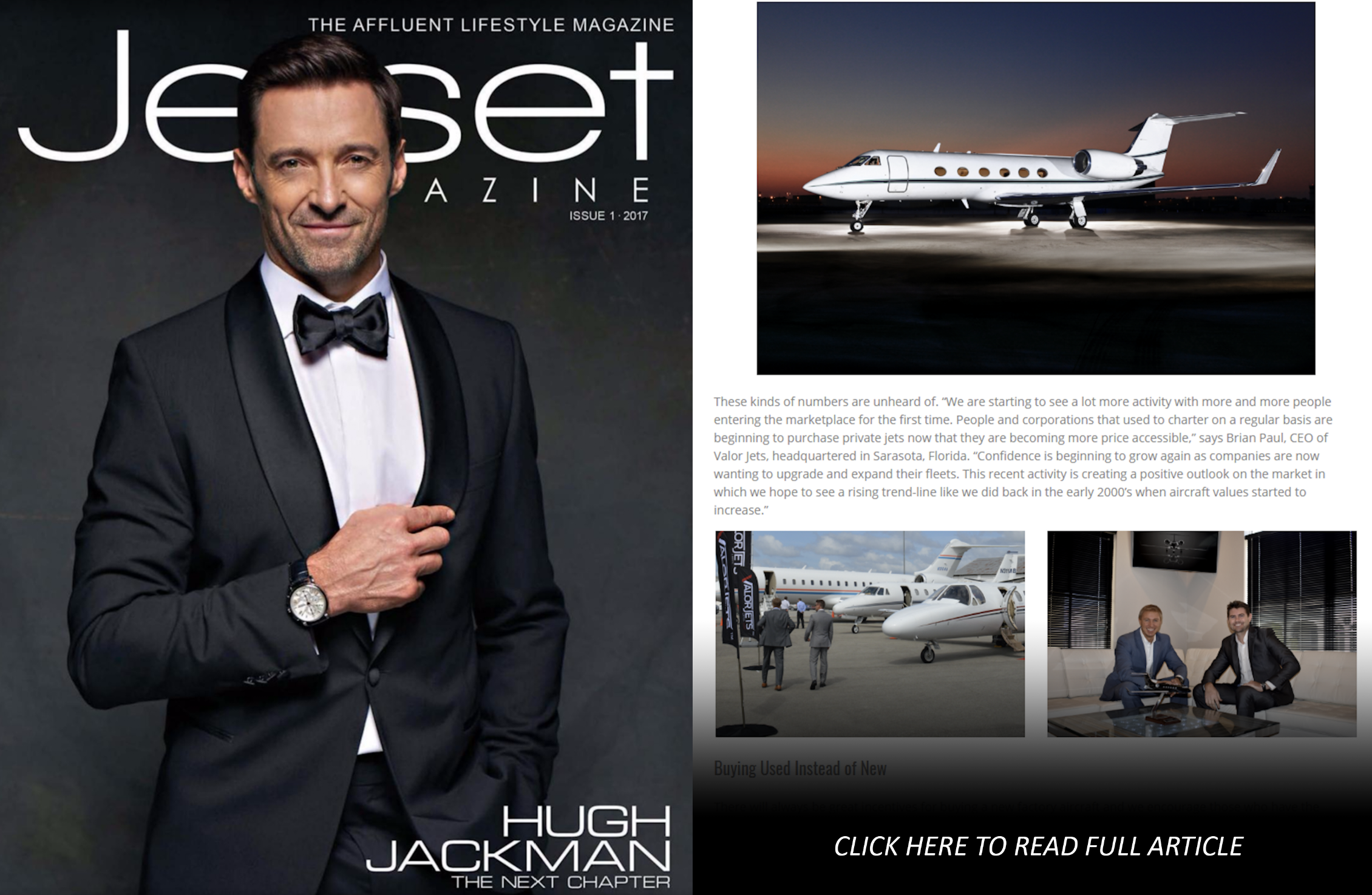 Valor Jets, Jetset Magazine