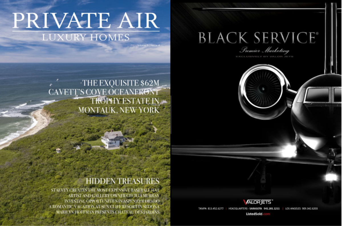 Exclusive BLACK SERVICE® featured in Private Air