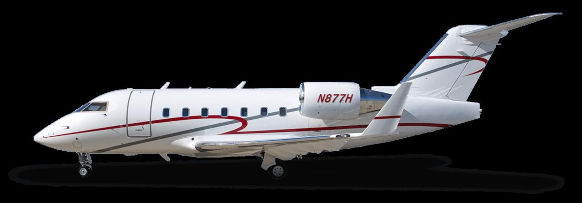 Body of Challenger 604 plane
